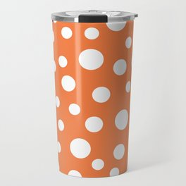 Crazy Dots: ORANGE Travel Mug