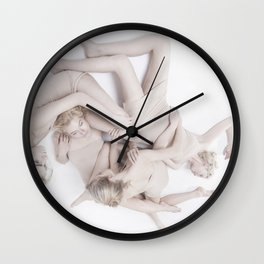 pale bodies Wall Clock