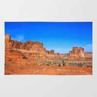 utah Area & Throw Rugs featuring Monument, Utah by Chris Root