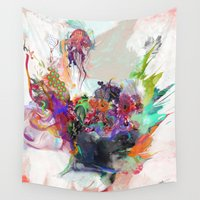 archan nair Wall Tapestries featuring Awake by Archan Nair