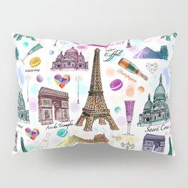 Voyage à Paris (Watercolor) Pillow Sham