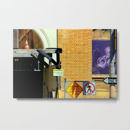 Caution - Security Notice - Sound Horn Metal Print