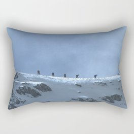 Ben Nevis Climb Rectangular Pillow