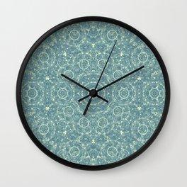 Kaleidoscope in blues Wall Clock