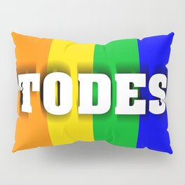 Flag with LGBT colors with inclusive language Pillow Sham