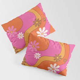 Groovy 60's and 70's Flower Power Pattern Pillow Sham