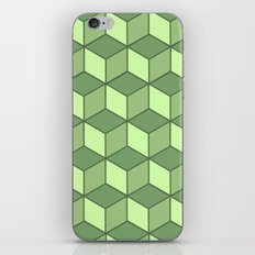 Lime cubes iPhone & iPod Skin