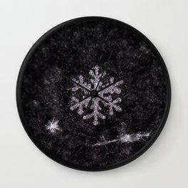 Winter Snowflake Wall Clock
