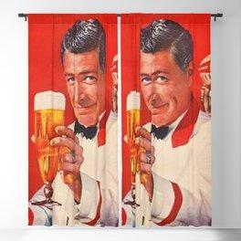 1960 Vintage Beer Poster Advertisement - Retro Advertising Blackout Curtain