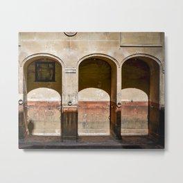 Roman Baths Arches Metal Print