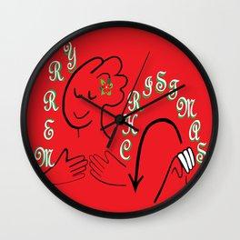 ASL Merry Christmas Wall Clock