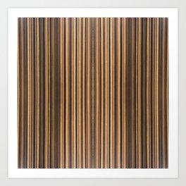 Twine Vertical Stripes Art Print