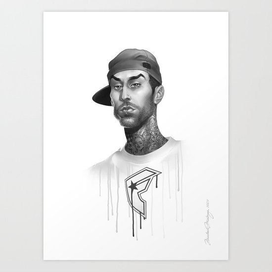 Strapped & Famous Art Print