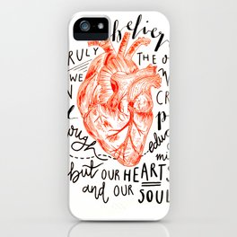 Humanitarian Heart iPhone Case