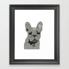 Frenchie Bulldog Puppy Framed Art Print