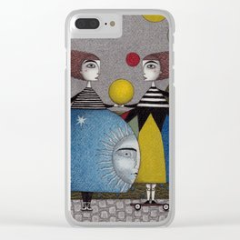 Ball Game Clear iPhone Case