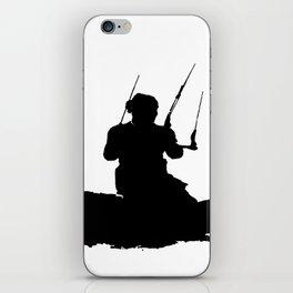 Wakeboarder Kitesurfing Silhouette iPhone Skin