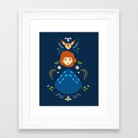nausicaa Framed Art Prints featuring Wind Valley by Ashley Hay