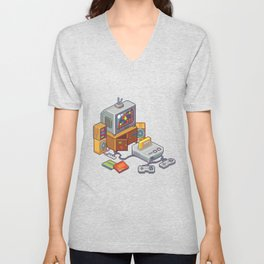 Retro gaming console Unisex V-Neck