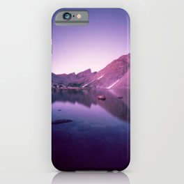Billy's Lake Blue Hour iPhone Case