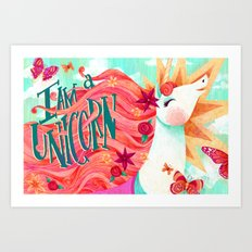 I AM A UNICORN Art Print