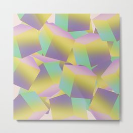 Fade Cubes B2 Metal Print