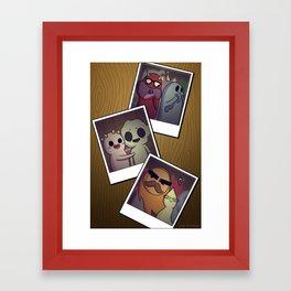 Ghost Polaroids Framed Art Print