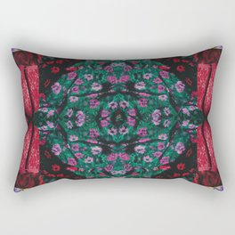 red lace - a modern, colorful collage Rectangular Pillow