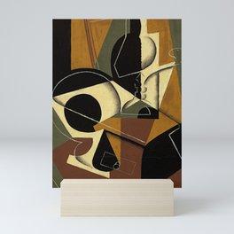 """Juan Gris """"Moulin à café et bouteille ( Coffee grinder and bottle)"""" Mini Art Print"""