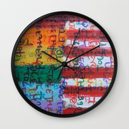 Flags for The Future 28 Wall Clock