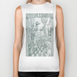 Don't Worry Be Happy 3 (Who Forgets The Past Is Condemned To Repeat It) Biker Tank