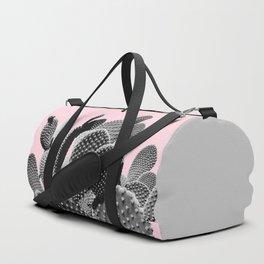 Bunny Ears Cactus on Pastel Pink #cactuslove #tropicalart Duffle Bag