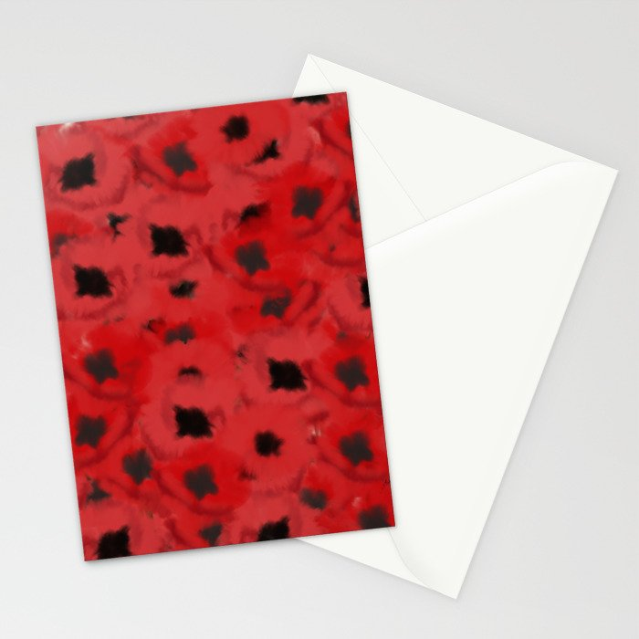 Field of Poppies In Summer Stationery Cards