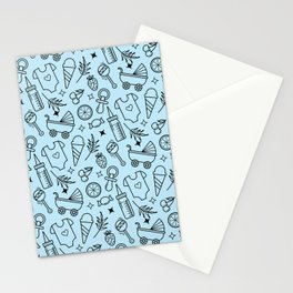 Pacify Me Blue Stationery Cards