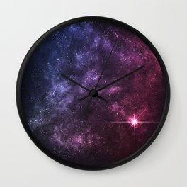 The Colorful Dust Space Wall Clock