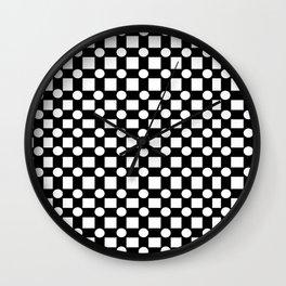 Geometric Dalmations Wall Clock