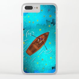 Boating through the Ocean Clear iPhone Case