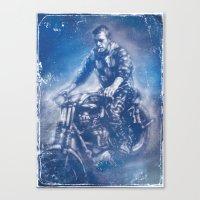 steve mcqueen Canvas Prints featuring McQueen by Scott Dickson