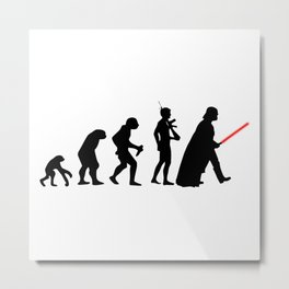 Dark Side Evolution Darth Vader Metal Print