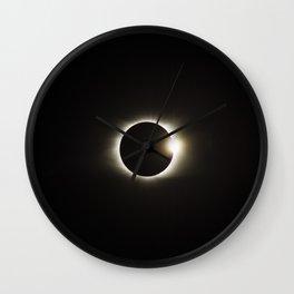 eclipse diamond ring Wall Clock