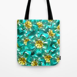 Golden Cyan Greens Tote Bag