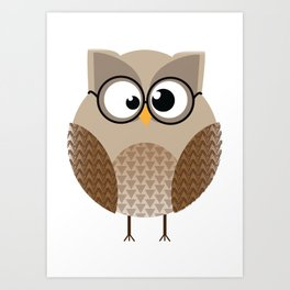 OWL KNOWS EVERYTHING Art Print