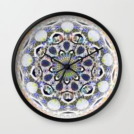 Boho Lace Love Mandala Wall Clock