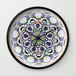 Boho Lace Love Mandala Wall Clock