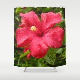 Flower in the Rain Shower Curtain