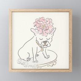 French Bulldog Flower Power : Fashion and Fluffballs Framed Mini Art Print