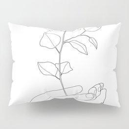 Minimal Hand Holding the Branch II Pillow Sham