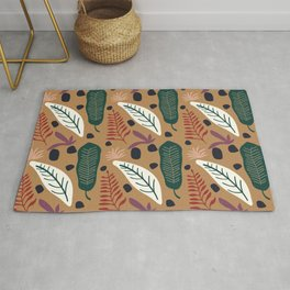 Colorful floral Cut Out Flowers and Shapes VI Rug