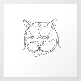 French Bulldog Head Continuous Line Art Print