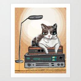 Gala AKA DJ Purrs Art Print